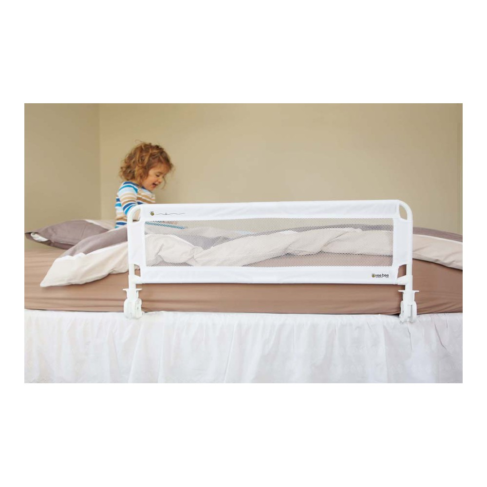vee bee fold down bedguard bed rail the baby gate experts. Black Bedroom Furniture Sets. Home Design Ideas