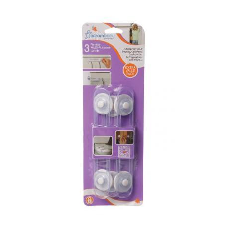 Dreambaby Multi-Purpose Latch 3 Pack